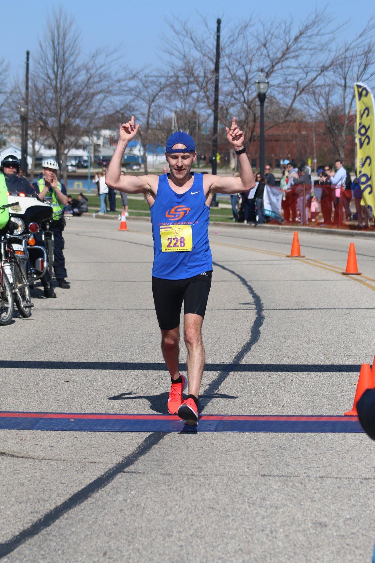 Brian Falcone Wins Wisconsin Marathon!